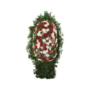 Венок на могилу из живых цветов №12