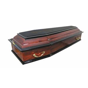 Гроб лакированный «Печаль» 6-гранный