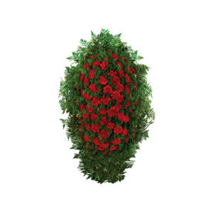 Ритуальный венок из живых цветов №9