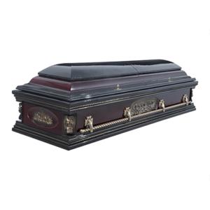 Гроб лакированный «Вегас-ангел» 2-крышечный