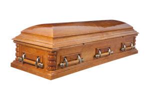 """Гроб лакированный """"Хьюстон"""" 2-х крышечный"""