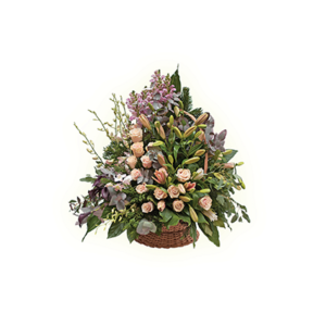 Корзины из живых цветов