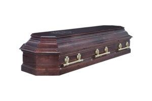"""Гроб лакированный """"Пегас"""" 8-ми гранный 2-х крышечный"""