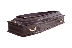 Гроб лакированный «Узор №3» 6-ти гранный