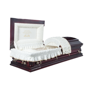 Гроб лакированный «Виктория» 2-крышечный