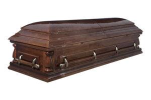 """Гроб лакированный """"Виктория"""" 2-х крышечный"""