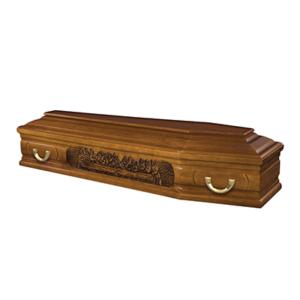 """Гроб полированный модель """"103UV"""" «Тайная вечеря»"""