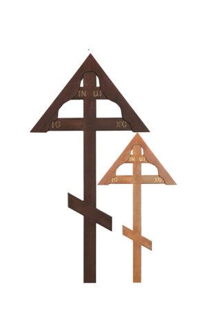 """Крест """"простой домик"""" дуб"""