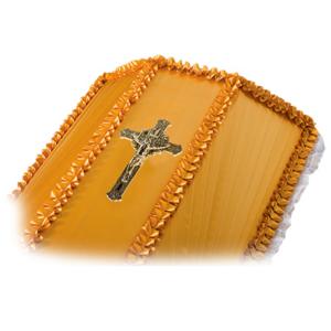 Крест на гроб «Ажурный» католический