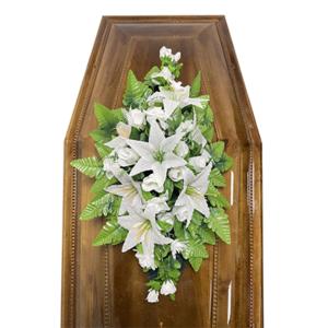 Траурная композиция на гроб «Cтандартная» №1