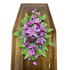 Траурная композиция на гроб «Cтандартная» №4