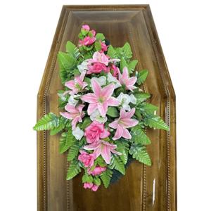 Траурная композиция на гроб «Cтандартная» №5