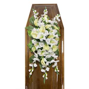 Траурная композиция на гроб «Заказная» №1