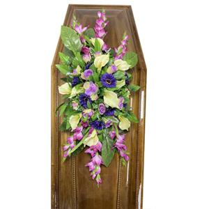 Траурная композиция на гроб «Заказная» №2