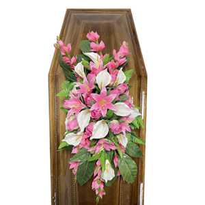 Траурная композиция на гроб «Заказная» №3