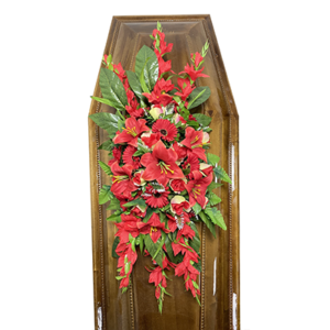Траурная композиция на гроб «Заказная» №6